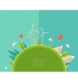 Eco Friendly green energy concept flat vector image vector image