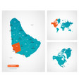 editable template map barbados with marks vector image vector image