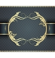 Elegant golden frame banner ornamental vector image