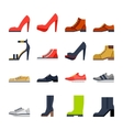 footwear for all occasions shoes sneakers boots vector image vector image