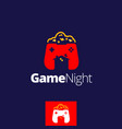 game night symbol vector image