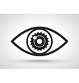 Gear in eye vector image