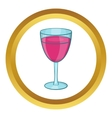 Glass of red wine icon vector image vector image