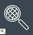 globe search line icon vector image