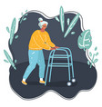 grandmothers with walker vector image