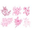 hand drawn floral decoration vector image vector image