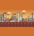 heavy industrial factory buildings landscape vector image vector image