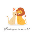 i love you lion lettering vector image vector image
