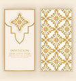 invitation cards with ethnic damask vector image vector image