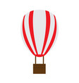 isolated carnival air balloon icon vector image vector image