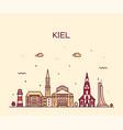 kiel skyline schleswig holstein germany art vector image vector image
