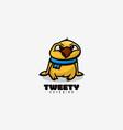 logo tweet simple mascot style vector image