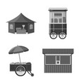 market and exterior logo vector image