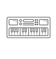 midi keyboard line icon vector image