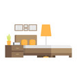 modern badroom interior design icon vector image vector image