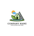 nature landscape and environment logo eco green vector image vector image