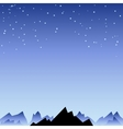Night sky with star and mountain spike vector image vector image