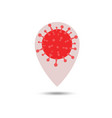 pin location coronavirus or virus element sign vector image vector image