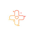 plus heart medical icon vestor design vector image vector image