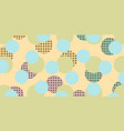 pop art retro circles background vector image vector image