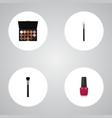 realistic fashion equipment powder blush varnish vector image vector image