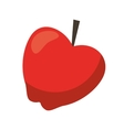 red apple taste fruit nature icon vector image vector image