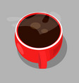 red cup of coffee vector image vector image