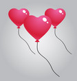 red heart ballon vector image vector image