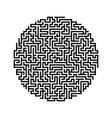 round labyrinth maze game vector image vector image