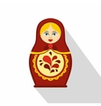 Russian tradition matryoshka doll icon flat style vector image vector image