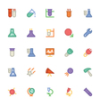 Science Colored Icons 7 vector image