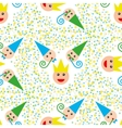 Seamless party pattern composed vector image vector image