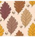 seamless pattern with autumn oak leaves vector image vector image
