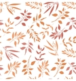 Seamless pattern with orange twigs silhouette vector image vector image