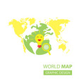 searching idea in world map vector image