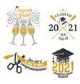 set class 2021 badges concept vector image vector image