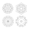 Set of Ethnic Fractal Mandala Meditation vector image vector image