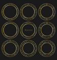 set of golden decorative round frames vintage vector image vector image
