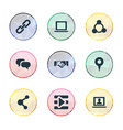 set of simple media icons vector image vector image