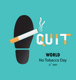 shoe printsfoot prints and quit tobacco logo vector image vector image