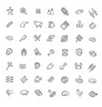 simple set meat related line icons vector image vector image