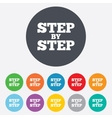 Step by step sign icon Instructions symbol