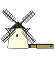 Stone windmill vector image vector image