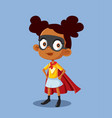 superheroine african girl cartoon vector image vector image