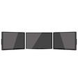 Three black monitors vector image vector image