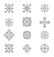 Variations of the ancient Latvian sun sign vector image vector image