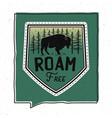 vintage roam free badge design vector image vector image