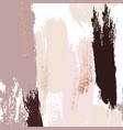 watercolor brush strokes with rose gold grunge vector image