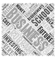 what business school do i go to Word Cloud Concept vector image vector image