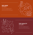 Wine Industry Banners vector image vector image